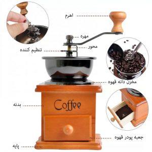 تنظیم آسیاب قهوه دستی
