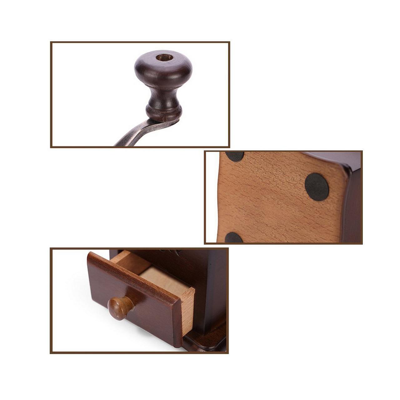 آسیاب قهوه دستی مدل چوبی
